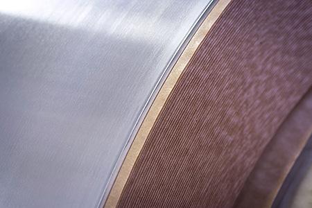 bobina di materiale non ferroso semilavorato